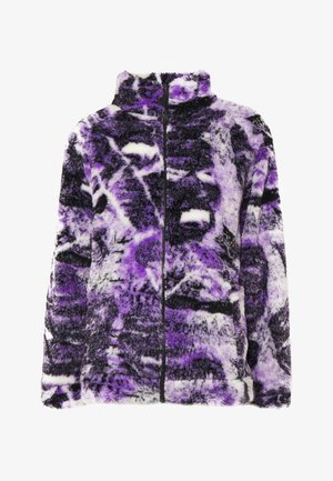 PYSCHEDLIC COLLAGE BORG JACKET - Lehká bunda - purple