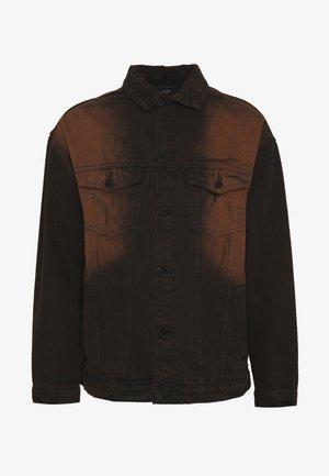 SAND BLAST EFFECT JACKET - Giacca di jeans - black