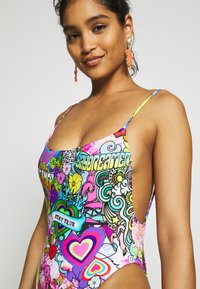Jaded London - SQUARE NECK CAMI SWIMSUIT 70'S HIPPIE PRINT - Badeanzug - multicoloured - 3
