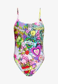 Jaded London - SQUARE NECK CAMI SWIMSUIT 70'S HIPPIE PRINT - Badeanzug - multicoloured - 4