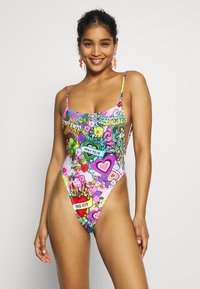 Jaded London - SQUARE NECK CAMI SWIMSUIT 70'S HIPPIE PRINT - Badeanzug - multicoloured - 0