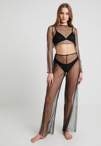 Jaded London - WIDE LEG BEACH TROUSER SET - Strandaccessoire - black - 1