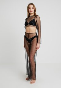 Jaded London - WIDE LEG BEACH TROUSER SET - Strandaccessoire - black - 0