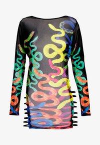 Jaded London - BINDING DETAIL BEACH DRESS CLIMBING SNAKE  - Strandaccessoire - black - 3