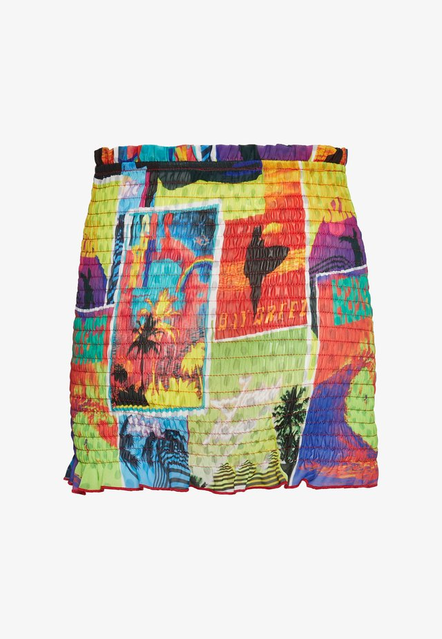 SHIRRED MINI SKIRT - Beach accessory - multi coloured