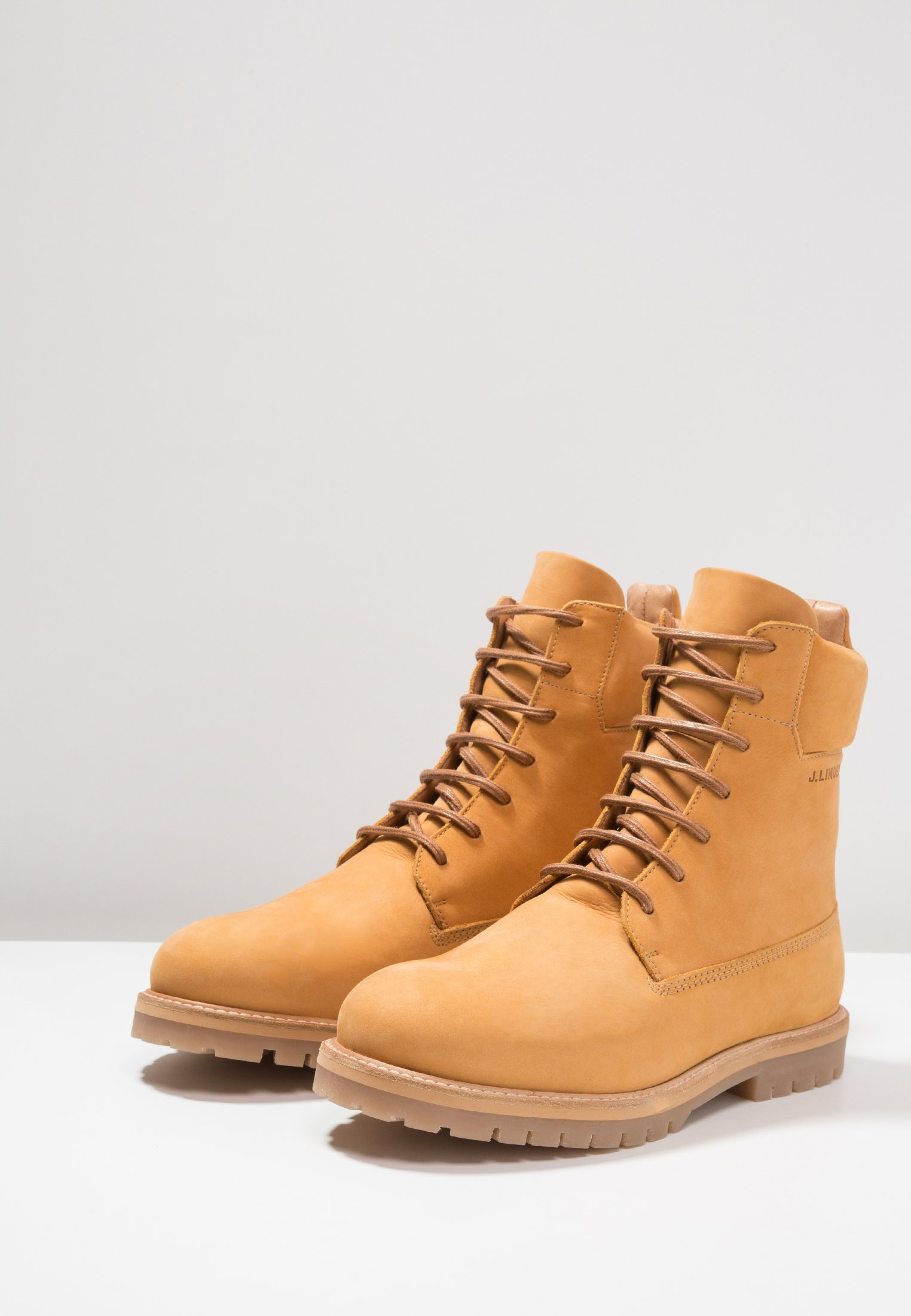 J.LINDEBERG TANK HIGH DIFFERENT MIX - Bottines à lacets oxford tan