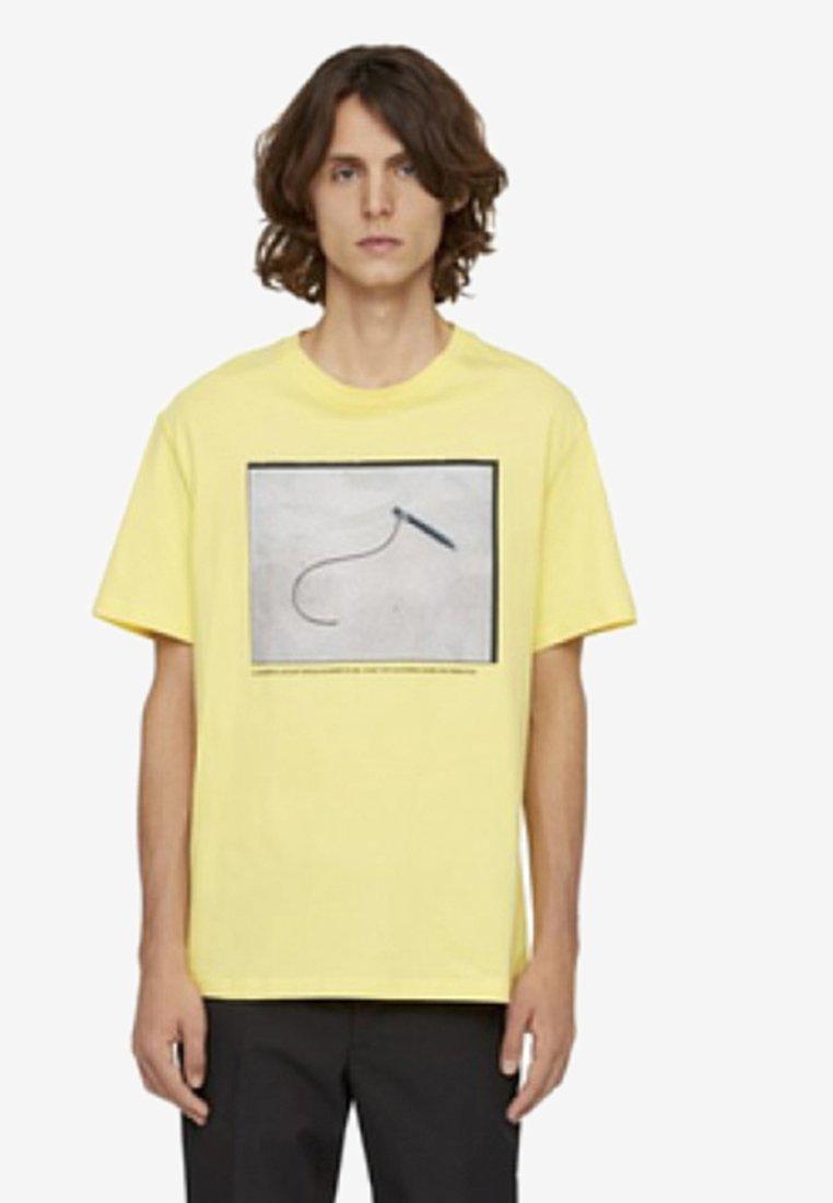 J.LINDEBERG - JORDAN - Print T-shirt - butter yellow