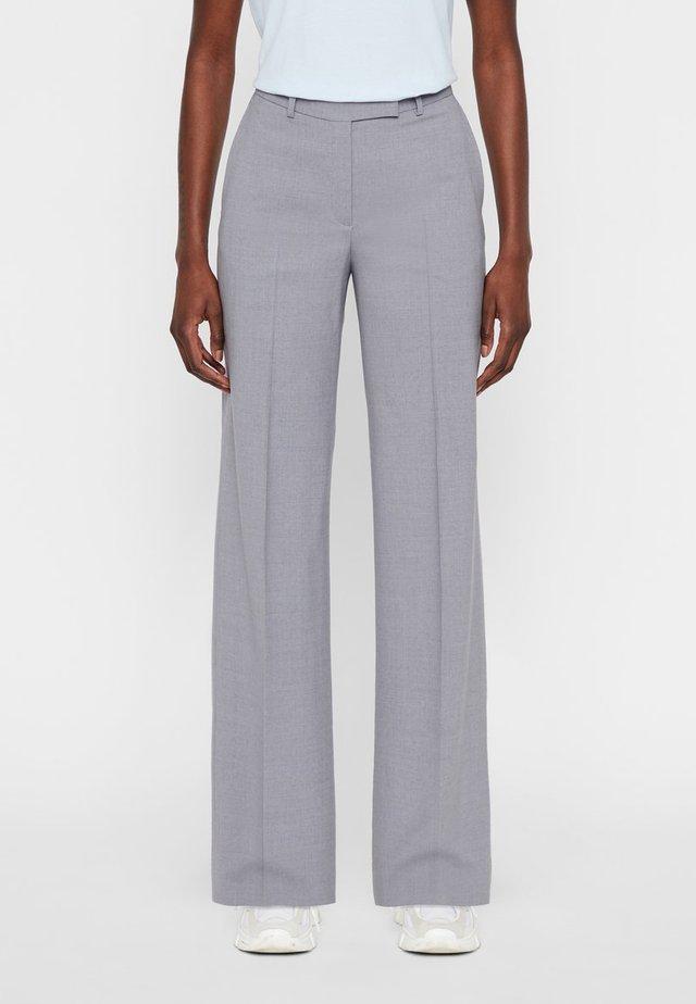 KORI  - Spodnie materiałowe - light grey melange