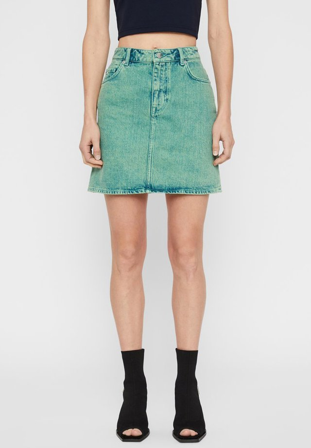 BROOK - Spódnica jeansowa - o.d denim green