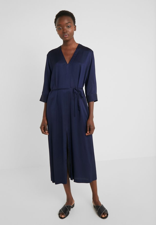 SASH TWO TONE TWILL - Day dress - navy