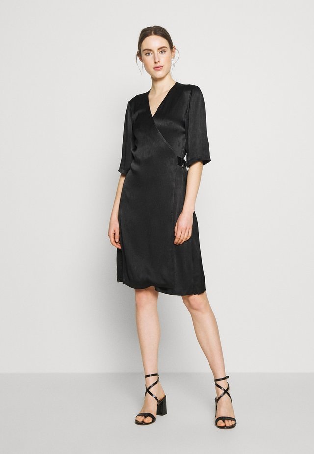 EAGLE PLISSÉ - Day dress - black