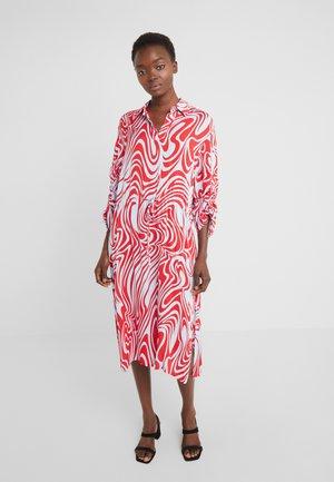 ZAPPA SEMI TRANSPARENT - Day dress - red swirl