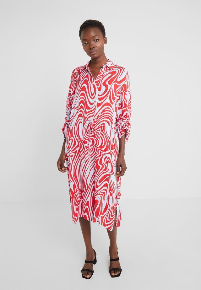ZAPPA SEMI TRANSPARENT - Sukienka letnia - red swirl