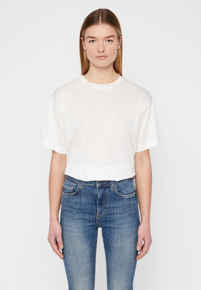 MILLER SHINY - T-shirt basic - white