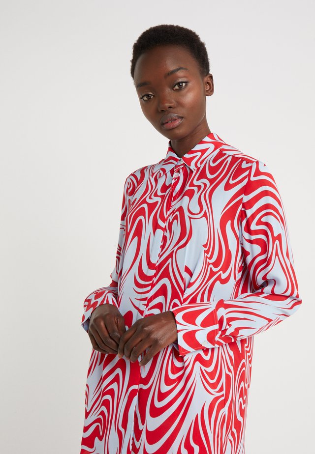 EDDIE - Button-down blouse - red swirl