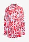 EDDIE - Button-down blouse - red swirl