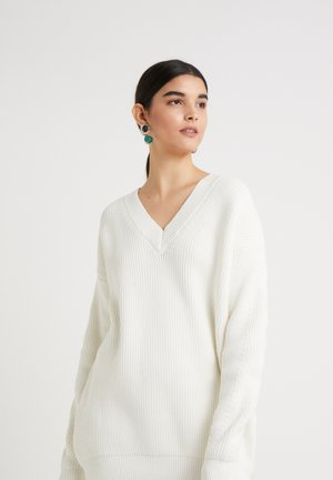 JANE - Strikpullover /Striktrøjer - cloud white