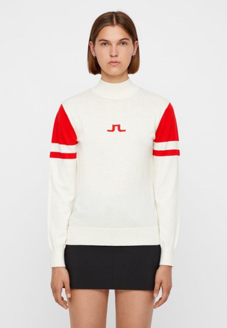 J.LINDEBERG - LEIGHTON - Strickpullover - cloud white