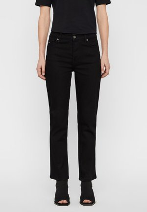 JEANS STUDY BLACK STRECTH - Flared Jeans - black