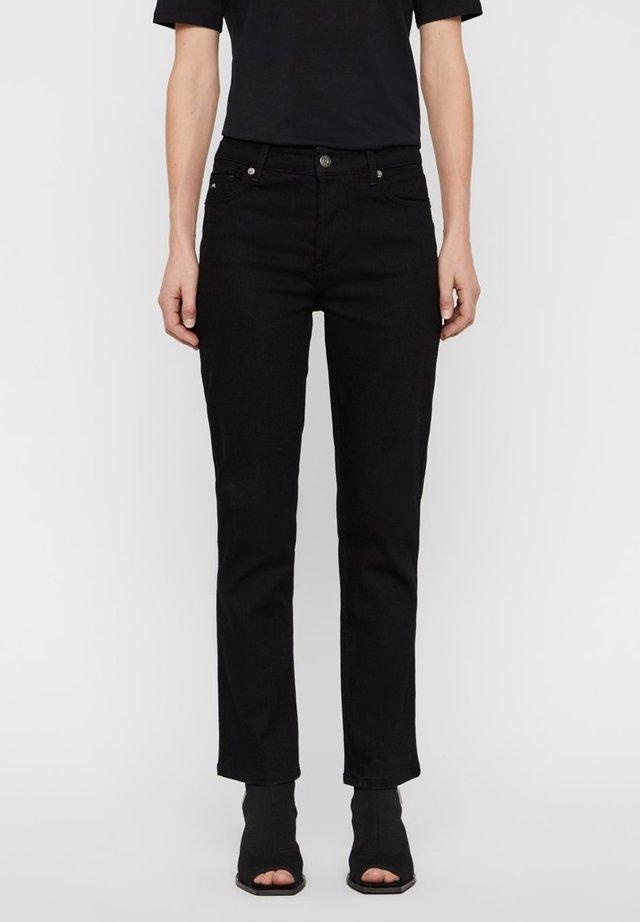 JEANS STUDY BLACK STRECTH - Jeans a zampa - black