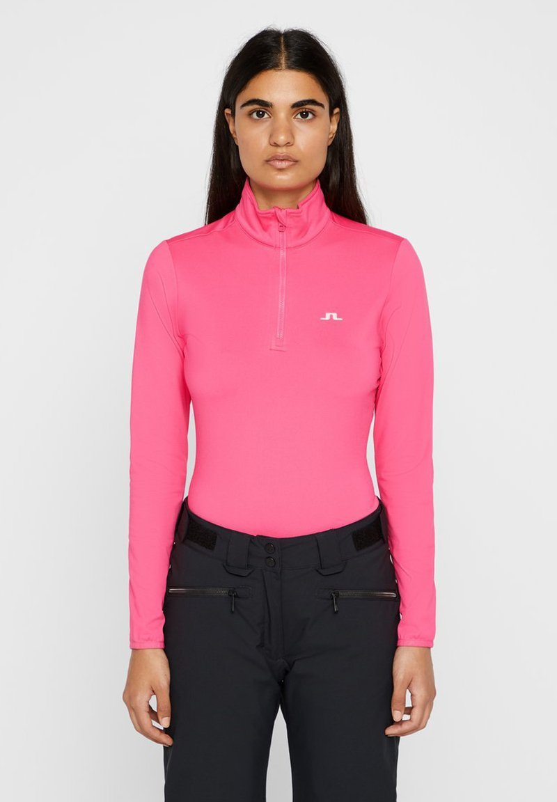 J.LINDEBERG - KIMBALL QUARTER ZIP MIDLAYER - Fleecepullover - hot pink