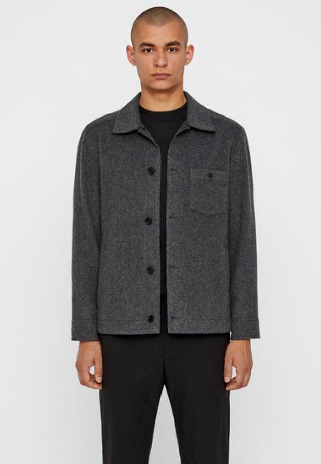 DOLPH - Summer jacket - dark grey melange