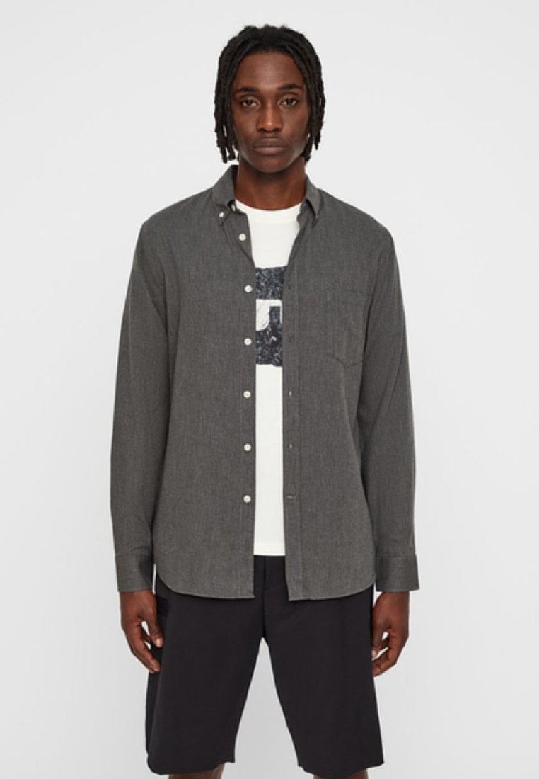 J.LINDEBERG - FLANEL - Shirt - dark grey