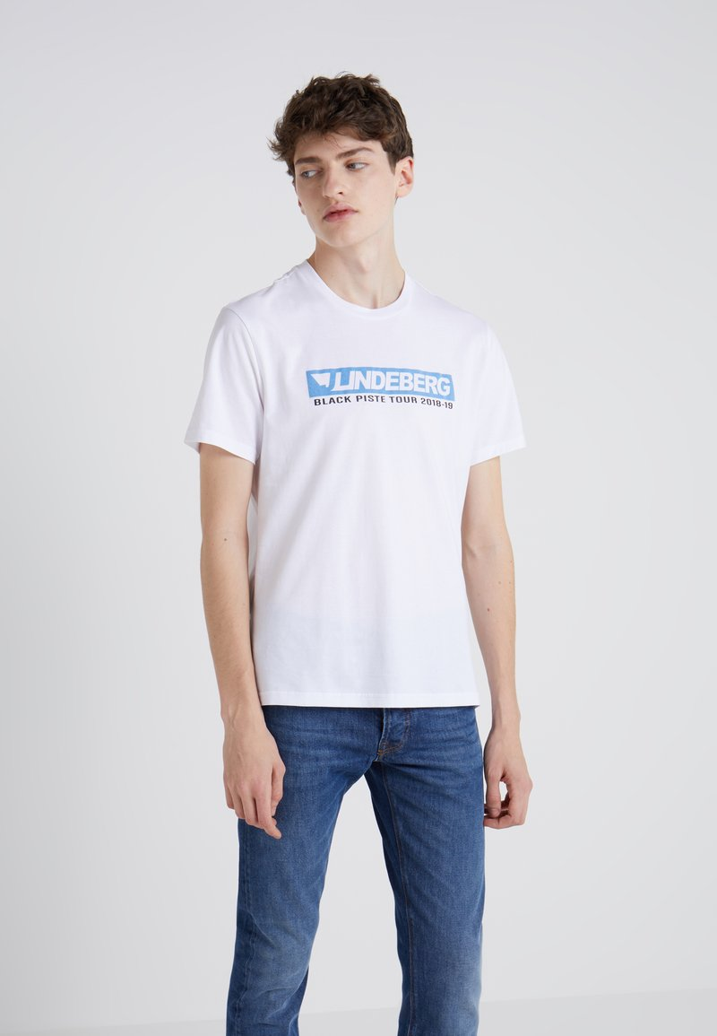 J.LINDEBERG - BRIDGE TEE GRAPHIC - Print T-shirt - white