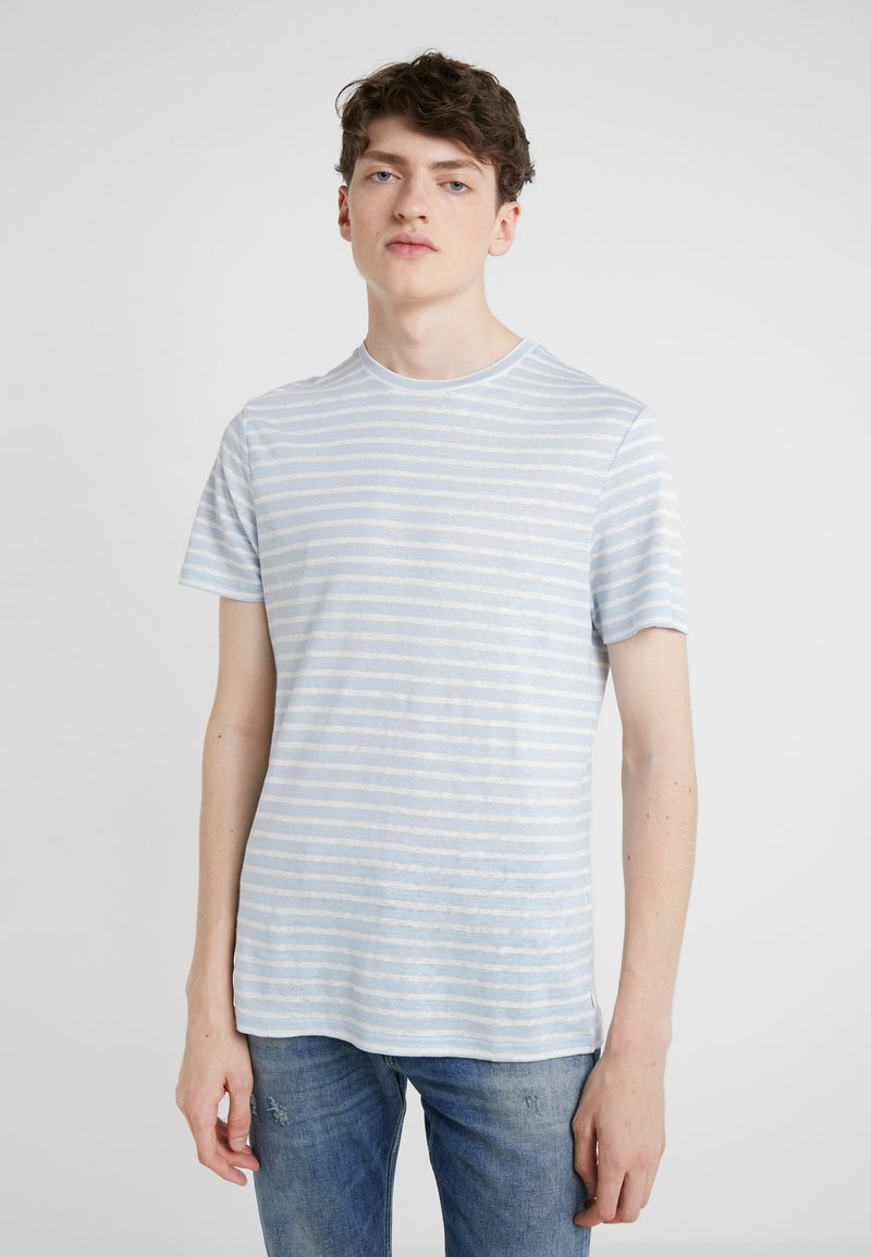 J.LINDEBERG - COMA CLEAN STRIPED - T-Shirt print - ice flow