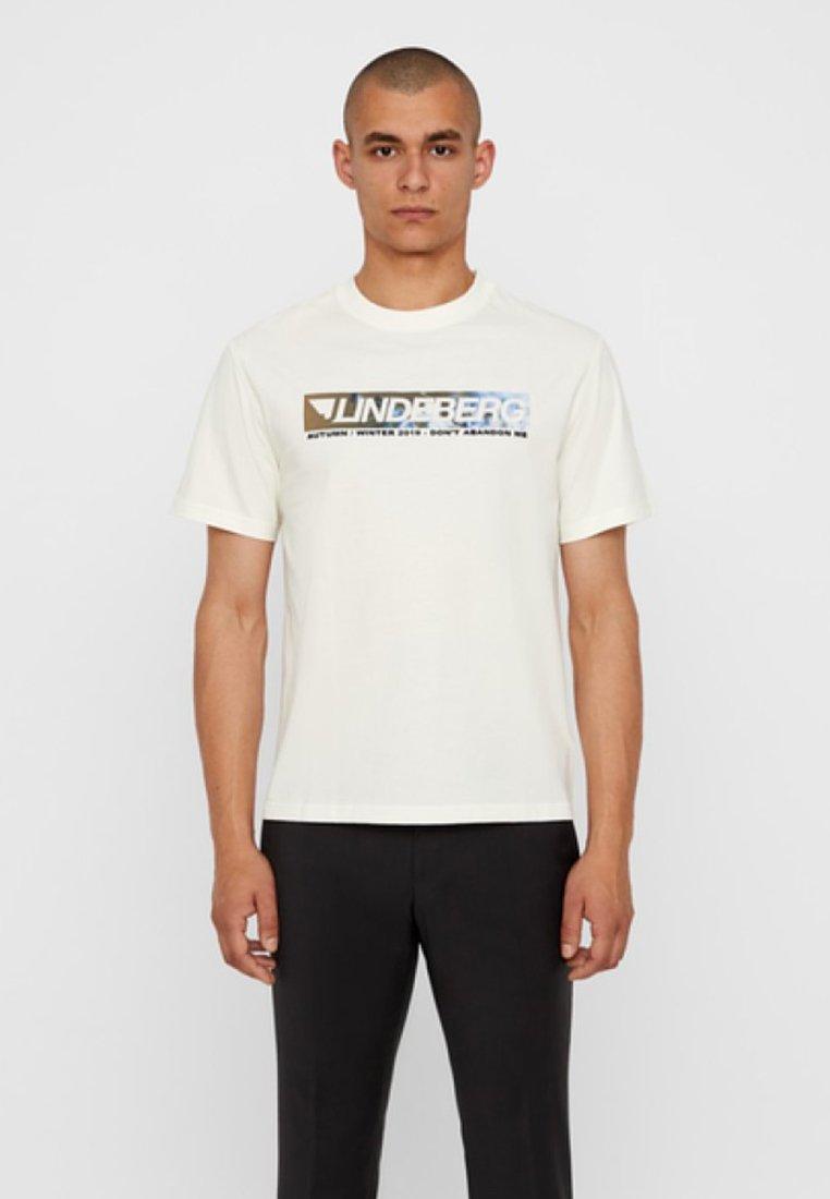 J.LINDEBERG - JORDAN - T-Shirt print - cloud dancer