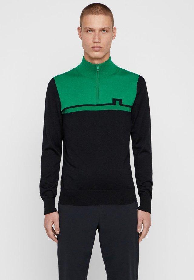 THEO QUARTER ZIP - Strickpullover - stan green