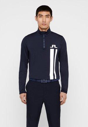 MITTELLAGE BOSE QUARTER ZIP - Sports shirt - jl navy