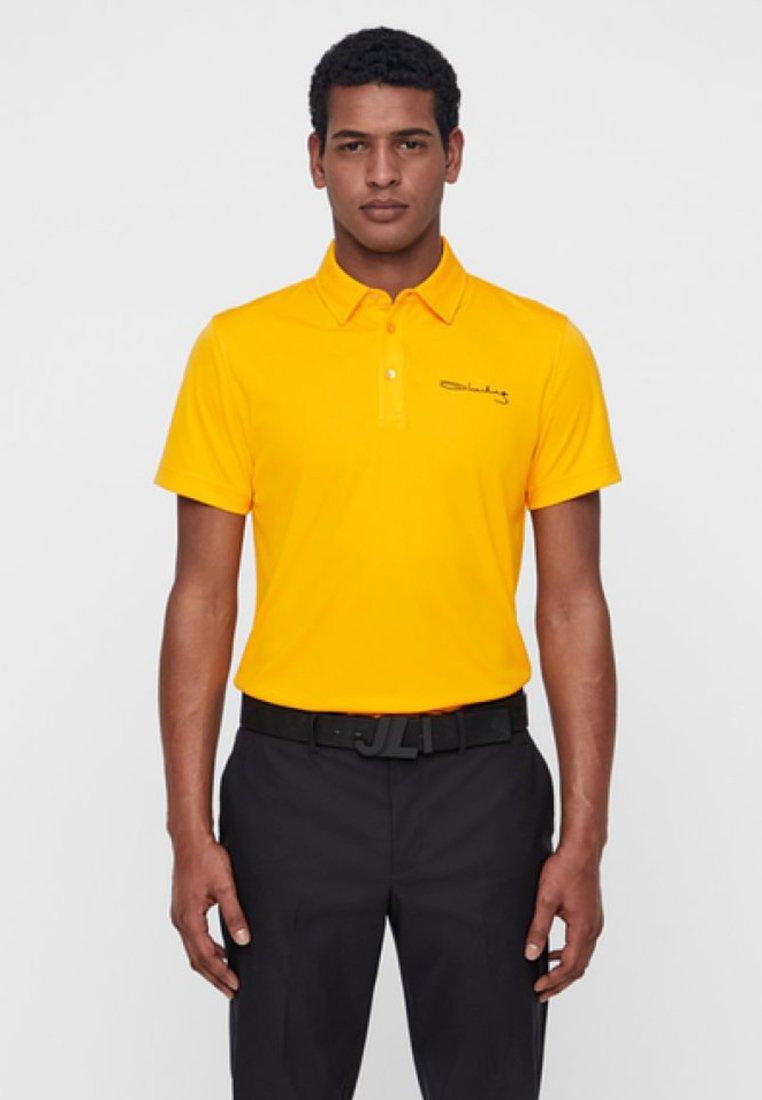 J.LINDEBERG - M SIGNATURE KV SLIM TX - Polo shirt - warm orange