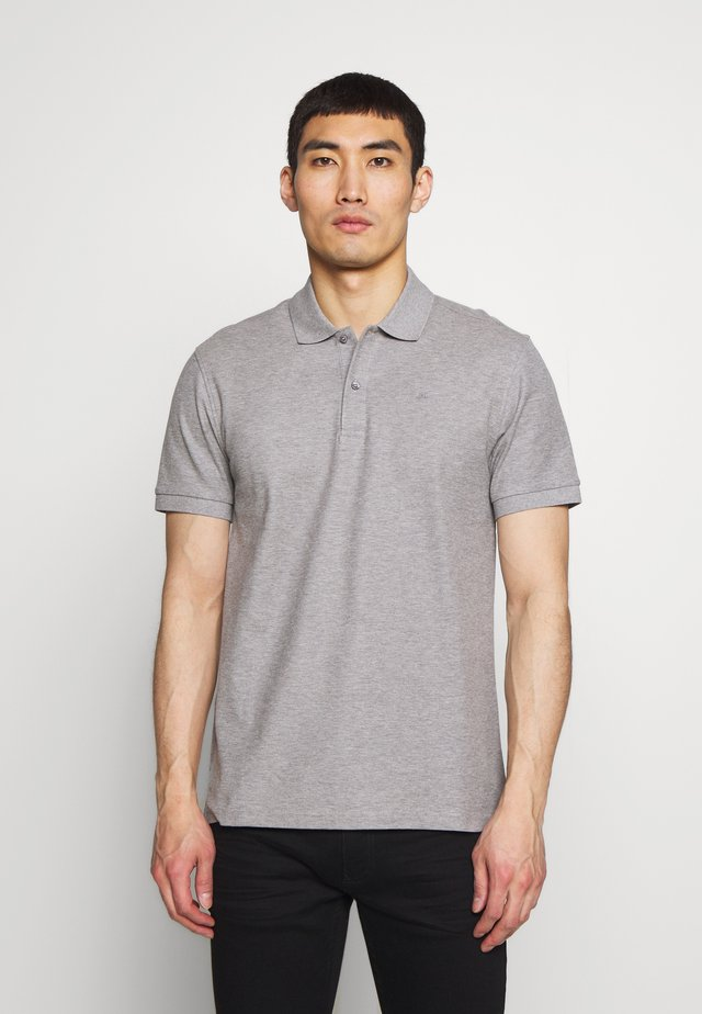 TROY CLEAN - Polo shirt -  grey melange