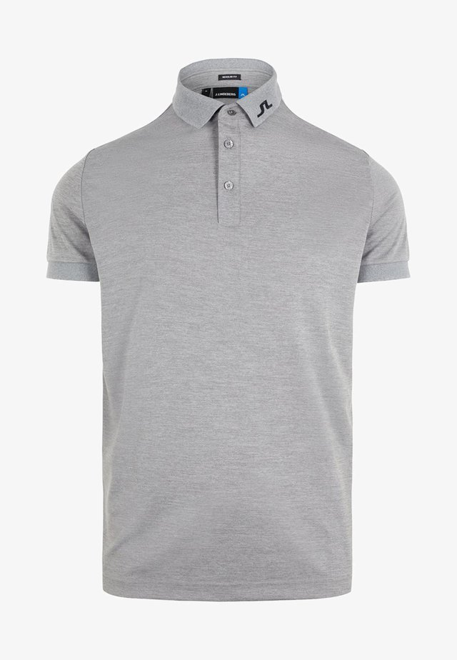 Poloshirts - stone grey melange