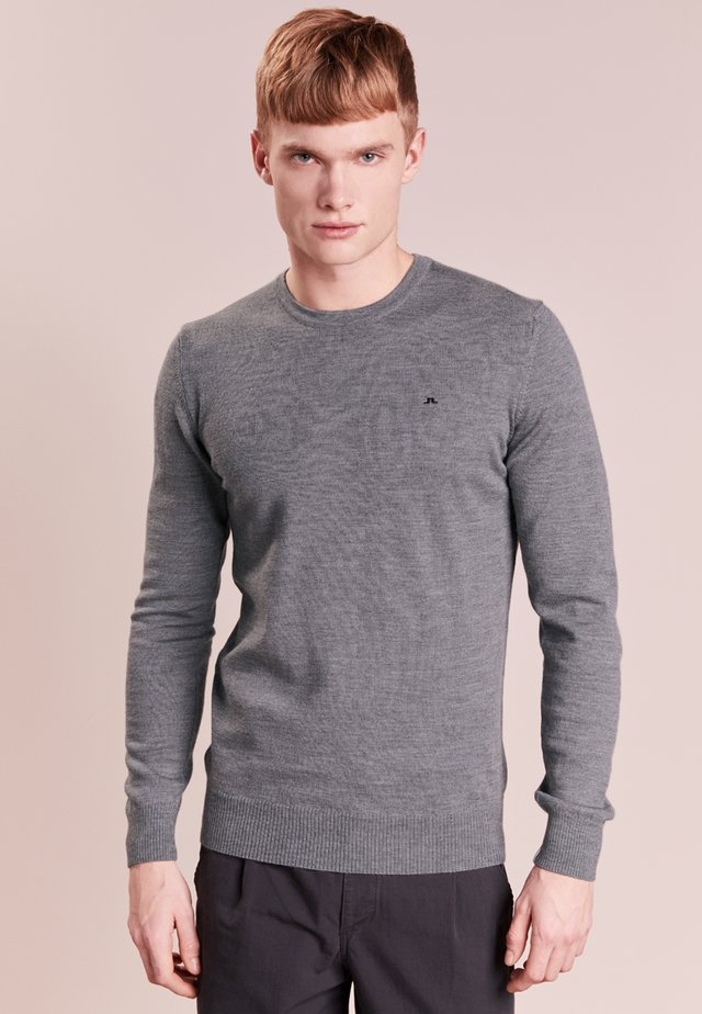 LYLE TRUE MERINO - Neule - grey melange