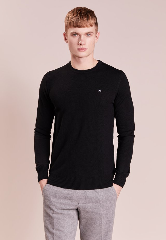 LYLE TRUE MERINO - Strickpullover - black