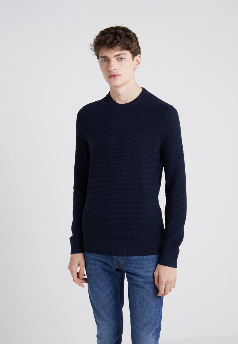 J.LINDEBERG - HECTOR MINI STRUCTURE - Trui - navy