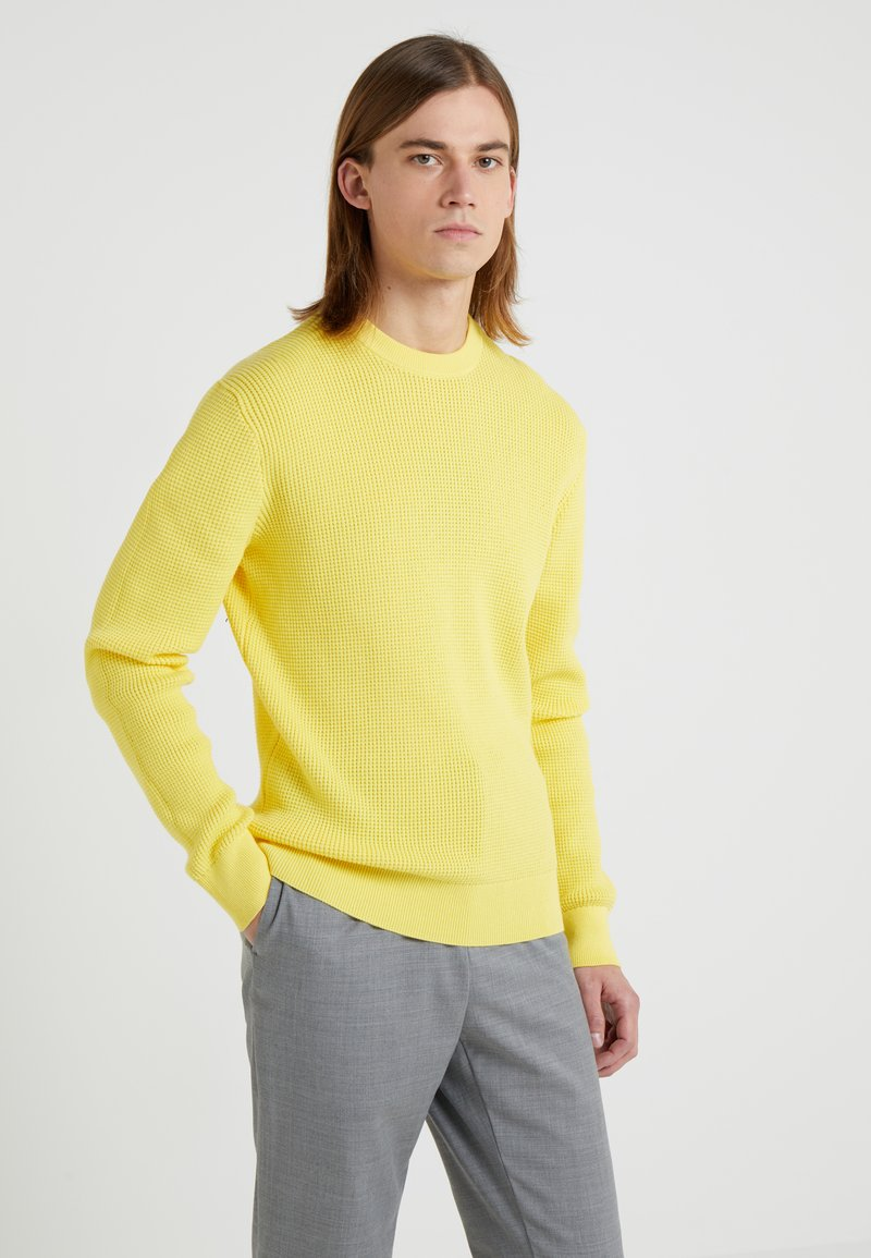 J.LINDEBERG - ROMULUS SEMI STRUCTURE - Jumper - butter yellow