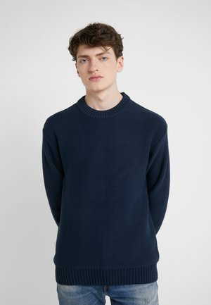 CASWELL TAPE - Stickad tröja - navy