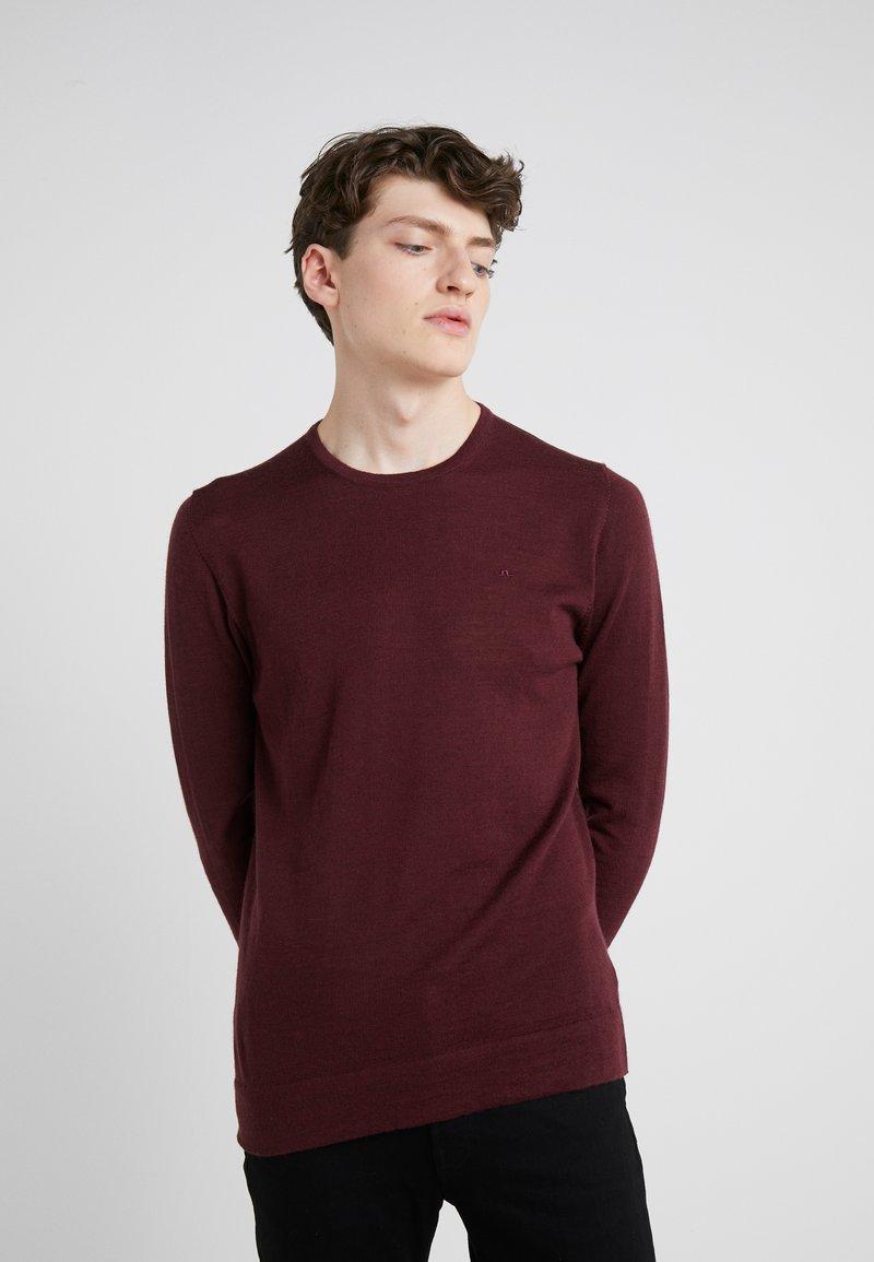 J.LINDEBERG - NECK PERFECT - Pullover - dark mocca