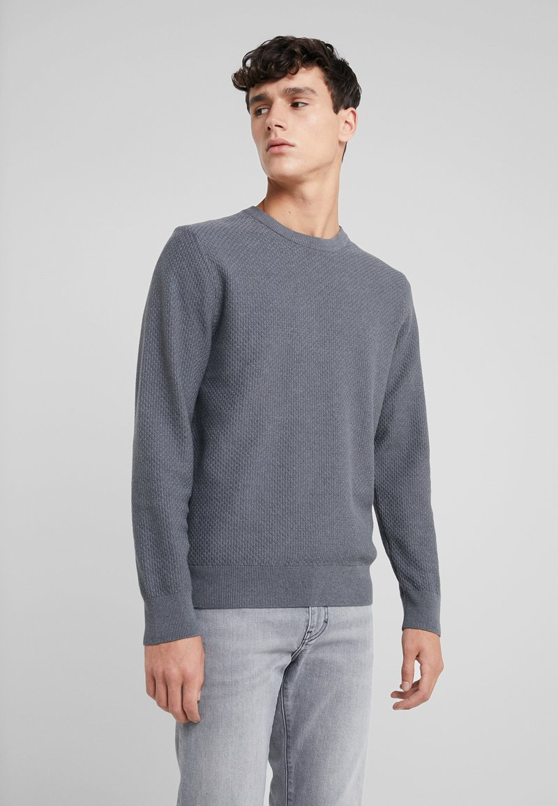 J.LINDEBERG - ARTHUR SMALL STRUCTURE - Sweter - dark grey