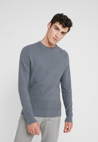 J.LINDEBERG - ARTHUR MINI STRUCTURE - Pullover - dark grey - 0