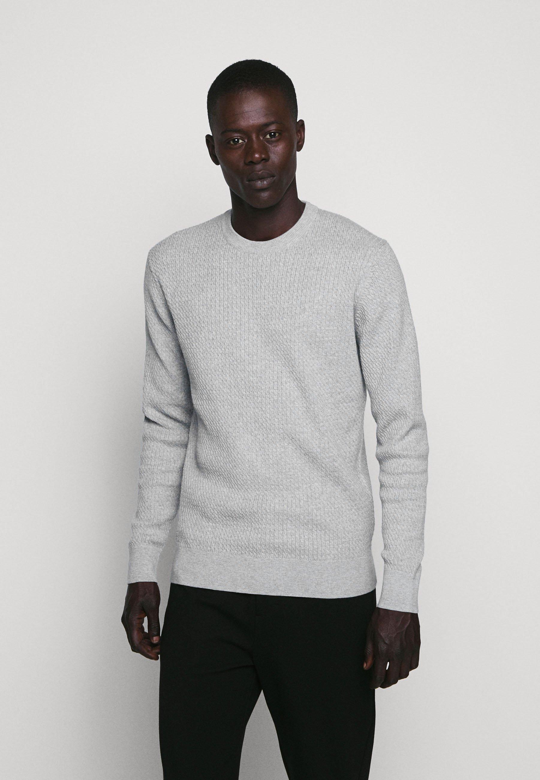 J.LINDEBERG ANDY SEMI STRUCTURE - Sweter - light grey melange