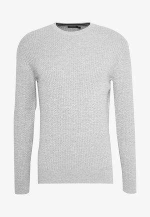 ANDY SEMI STRUCTURE - Stickad tröja - light grey melange