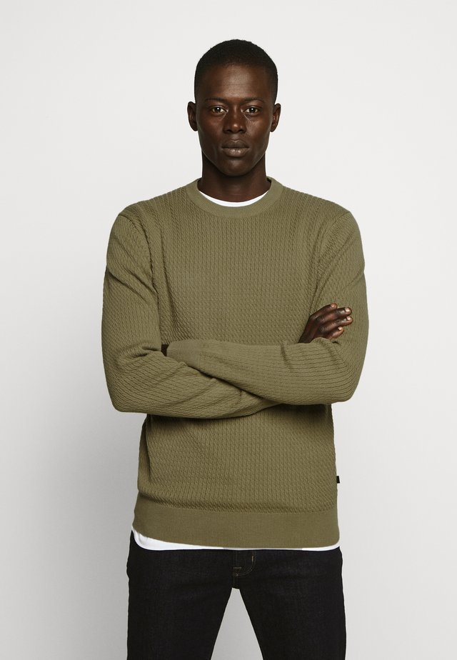 ANDY SEMI STRUCTURE - Pullover - covert green