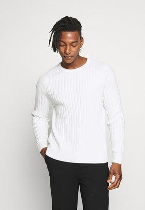 JACE CONTRAST  - Pullover - cloud white