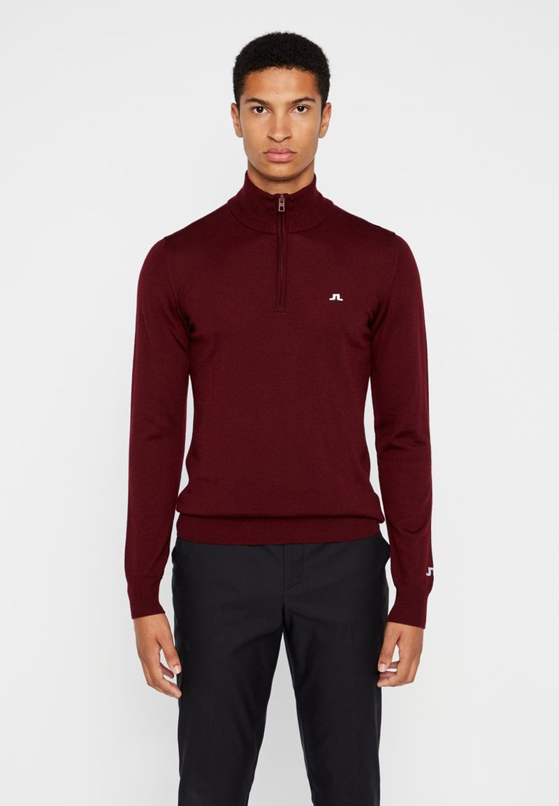 J.LINDEBERG - TOUR MERINO - Jumper - dark brown