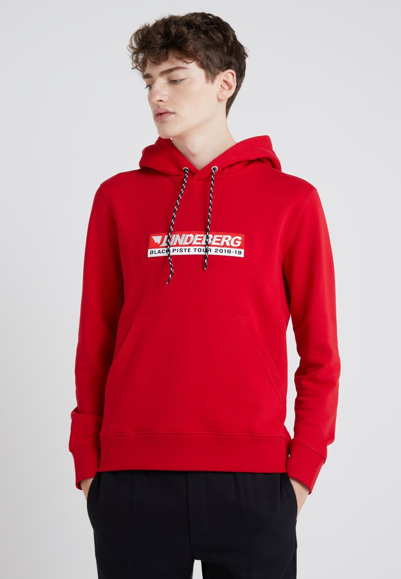 J.LINDEBERG - THROW HOOD RING LOOP - Hoodie - cherry