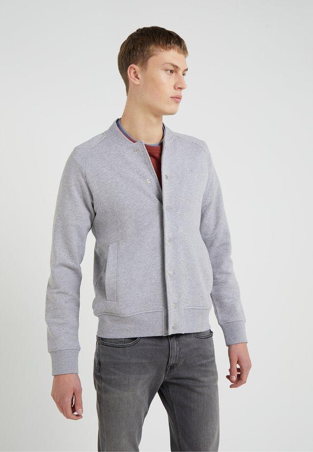 JASPER  STRUCTURE - Felpa aperta - grey melange